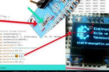 Arduino ile i2c/iic OLED Ekran kullanımı Videolu Anlatım