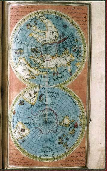 İbrahim Hakkı'nın Marifetname'deki dünya haritası