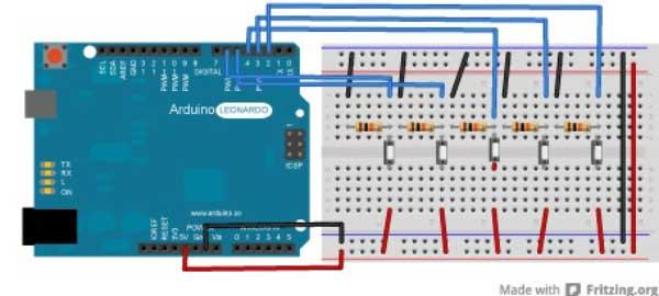 Arduino Tuşlarla Fare Uygulaması